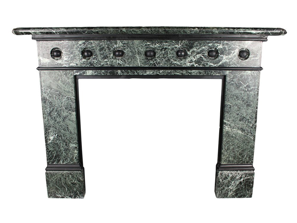 Large Victorian Marble Fireplace, Black Marble Fire Surround
